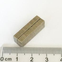 Wholesale Neodymium Fridge Magnets - Hot sale 100pcs Super Strong Small block Neodyminum magnets 4x4x1mm Rare Earth Neodymium Magnet Art Craft Fridge free shipping