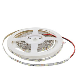 Wholesale 5mm led warm white - Narrow Side 5mm Width 5630 SMD Flexible Led Strip Light 60led m DC12V IP20 Non-waterproof Tape Lamp String Light White