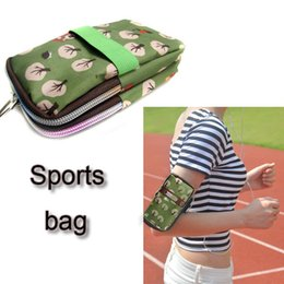 Wholesale Girl Sport Cloth - new design handbag for cell phone less than 6 inch build with 210 waterproof nylon cloth with 5 colors sport bag for women girls