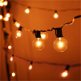Wholesale Patio Decorative Lights - Patio Lights G40 Globe Party Christmas String Light,Warm White 25Clear Vintage Bulbs 25ft,Decorative Outdoor Backyard Garland