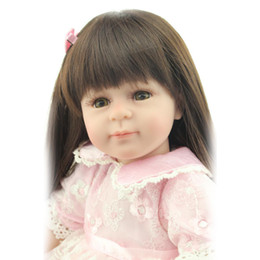 Wholesale Cheap Real Dolls For Sale - Collectible Baby Dolls Long Hair 20inch Real Reborn Babies Dolls For Sale Cheap 50CM Silicone VInyl Cute Princess Girls Toys