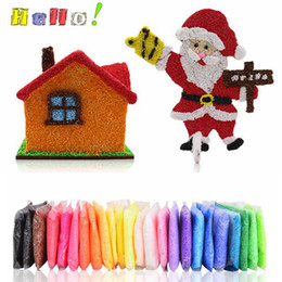 Wholesale Wholesale Stress Toys - Strong Sticky Snow Mud DIY Floam Slime Hand Play Dough Fluffy Floam Slime Stress Relief Scented Kids Toys Christmas Decoration SF120