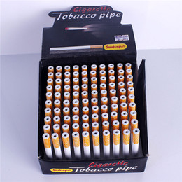 Wholesale Box Packaging Accessories - Wholesale One Hitter Pipes Ceramic Metal Cigarette One Hitter Ceramic Pipes Smoking Accessories jeweled one hitters Display Box Package