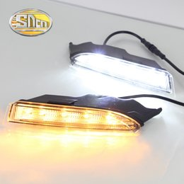 Wholesale Scirocco Turn Light - For Volkswagen Scirocco 2013 2014,Turn Yellow Signal Style Relay Waterproof 12V Car LED DRL Daytime Running Light Daylight SNCN