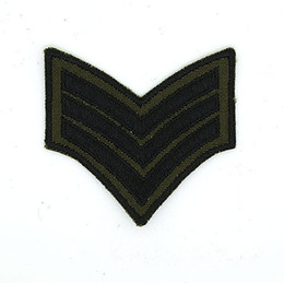 Wholesale Wholesale Chevron Shirts - U.S. ARMY SERGEANT SGT E-5 RANK CHEVRONS Iron on Embroidered patch Gift shirt bag trousers coat Vest Individuality