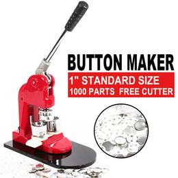 Badge macchina online-1inch 25 millimetri Badge Button Maker STAMPA Fare Button Kit Maker Machine e 1000 parti scudetti e Circle Cutter