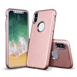 Wholesale Note Hard Cover Case - Electroplated Metal Key Hybrid Case Slim TPU Hard Back Shockproof Covers For Iphone 8 7 plus Samsung Note 8 S8 Plus J7 2017 OPP Bag