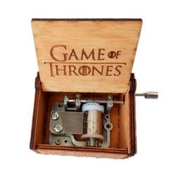 Wholesale Hand Crank Music - Fancy Hand crank Game of Thrones Music Box Retro wooden made Music Box toy Amazing Christmas Gift