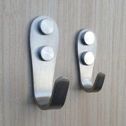 Wholesale Wholesale Single Robe Hook - Bathroom Accessories Robe Hooks 2 Models Stainless steel door back Single hook Kitchen Wardrobe Hangers Wholesale