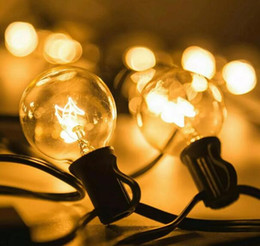 Wholesale Vintage Christmas Garlands - Patio Lights G40 Globe Party Christmas String Light,Warm White 25Clear Vintage Bulbs 25ft,Decorative Outdoor ball lamp Backyard Garland