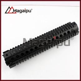 Wholesale Quad Rails - MAGAIPUOUTDOOR Tactical M016 M16 Handguard Carbine Length 2 Piece Metal 12 inch Quad Rail System