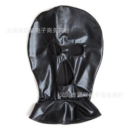 Wholesale Spandex Bondage - 2017 Adult Products Sex Sexy Game Toy Tease Bondage Restraint Fetish Subversion Mask Open eyes Hood Cap Spandex Cosplay For Couples S887