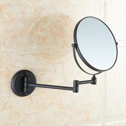 Wholesale Hang Bathroom Mirror - Free shipping Modern designed bathroom beauty magnifying mirror with Dark bronze copper hanging  folding bathroom makeup mirror