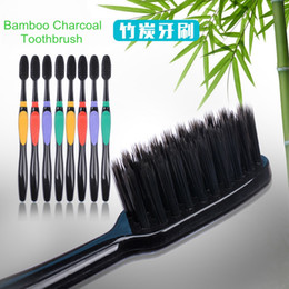 Wholesale Toothbrush For Travel - 2017 New Arrival Toothbrush Bamboo Charcoal Teethbrush Nano Soft Toothbrush for Adult Travel Oral Hygiene DHL