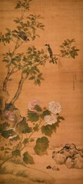 Wholesale Ma Silk - Chinese style Flower and bird painting Qing Dynasty Ma Quan Hotel living room Christmas decoration painting