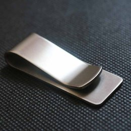 Wholesale Beverage Quality - Wholesale- High Quality Stainless Steel Metal Money Clip Fashion Simple Gold Silver Dollar Cash Clamp Holder Wallet for Men Books Clip Tool