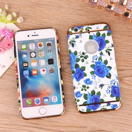 Wholesale Vintage Decal Flower - Mobile Phone Case For Apple iPhone 6 i7 Simple Hard Flower 3 in 1 Water Decals Vintage Women Case