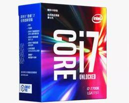 Wholesale Quad Core Desktop Computer - 2017 New Original Quad Core i7 7700K Processor 4.20GHz 8MB Cache Socket LGA 1151 DDR4 RAM Desktop Computer for Intel CPU I7-7700K