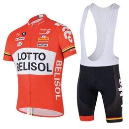 Camisa de lote on-line-Atacado ciclismo jersey lotto vermelho Soudal bicicleta bicicleta roupas maillot ropa ciclismo gel azul branco preto bermudão estrada