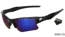 Wholesale Special Usa - Special Price men's sunglasses black frame Blue lens sport sunglass 9color shipping to USA free 9009 with box.