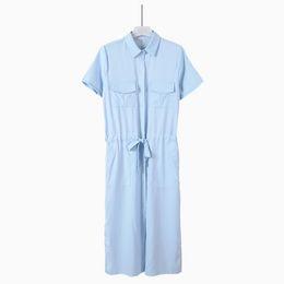 Wholesale Work Clothes Wholesale - 2016 Summer New Pattern Korean Short Sleeve Shirt Vent Dress Bow Chalaza Goddess Longuette Tide Clothing Ladies Work Dresses