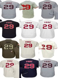 Wholesale Toddler Sale - Hot Sale 2017 Postseason 2016 WS Patch Mens Womens Youth Toddler Cleveland Jerseys 29 Satchel Paige Cool Flex Baseball Jerseys Stitched