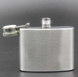 Wholesale Wine Bottles For Sale - Hoe sale 2oz(60ml) Stainless Steel Hip Flask Pocket Bottle For Whiskey Liquor Wine Flagon Alcohol With Lid
