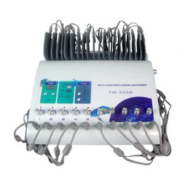 slim wave machine Coupons - TM-502B Slimming Machine Weight Loss ems muscle stimulator Electrostimulation Machine Russian Waves ems Electric Muscle Stimulator 0607020