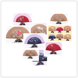 Wholesale China Wedding Supplies Wholesale - 2016 silk hand fan Chinese craft supplies Chinese hand fan bamboo and silk hand fan dhl free shipping
