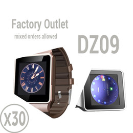 Wholesale Camera Outlet - Factory Outlet : 30 pcs 1.56 inch Smart Watch DZ09 Support SIM Card & TF card For Android & IOS cellphone