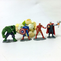 Wholesale Super Hero Cute Avengers - super hero soldier Movies the Avengers Mini Action Figures Gashapon Gachapon Capsule Toys Hot sale Cute for children Christmas Gifts