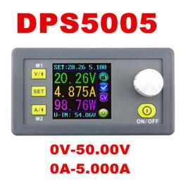 Wholesale power meter digital - DPS5005 0V-50.00V Constant Voltage meter 0-5.000A current tester Step-down Programmable Power Supply module regulator converter