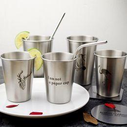 Wholesale Briefs Pattern - Zebra Coffee Mug Stainless Steel Tumbler Animal Pattern Milk Cup Portable Many Styles Hot Sale 8 5zx2 C R