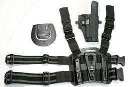 Wholesale Puttee Pistol Holster - P226 tactical puttee thigh belt drop Leg holster pouch Pistol Black