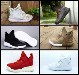 Wholesale Y3 Boots - Newest Tubular X Mens Running Shoes White Red Black High Cut Sneakers Lightweight Y3 Boots Outdoor Athletic Sports Shoes