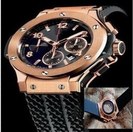 Wholesale Watches Hb - Big Bang High Quality Men Watch All Subdials Work Mechanical Automatic Wristwatches Luxury Watches Top Brand Rubber Strap Gift for mens hb