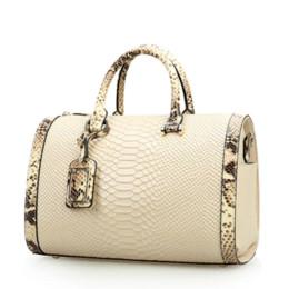 Wholesale Real Crocodile Skin Bags - Real 100% genuine leather bags for women crocodile snake skin designer brand handbag high quality ladies shoulder bags NEW 2016