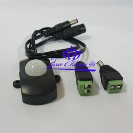 Wholesale Pir Led 15 - Freeshipping 1PCS Mini DC 12V 24V LED Strip Automatic PIR Body Infrared Motion Sensor Switch 15 ~ 240 seconds, adjustable TDL-2023