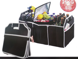 Wholesale Trunk Organizers - Car Boot Organizer Stuff Food Storage Bags trunk organiser Automobile Stowing Tidying Interior Accessories Folding Collapsible