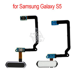Wholesale cable menu - Original OEM Home Button with Flex Cable for Samsung Galaxy S5 G900 Return Key Main Menu Buttons Flex Assembly