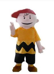 Wholesale Charlie Brown Mascot - Hot selling 2016 cartoon character charlie brown mascot costume fancy dress costumes adult costume custom mascot suit