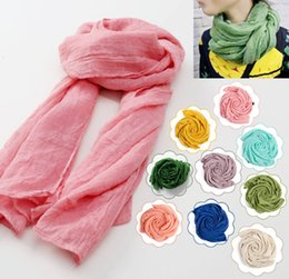 Wholesale- 9 Colors 2017 New Toddler Solid Infant Girl Kids Baby Linen Scarf Loop Scarves Muffler Kerchief Neck Warmer Shawl Deals