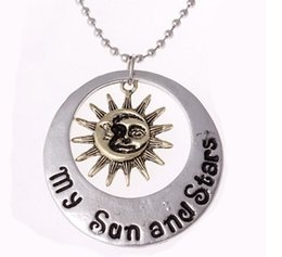 Wholesale Movies Life - 2016 Movie Jewelry New Fashion Moon Of My Life Sun Star Necklace Song Of Ice And Fire Necklace Game Of Thrones Pendants 12PCS LOT