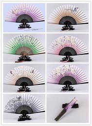 Wholesale Large Folding Fans - Folding fan Personalized decorative bamboo folding hand fans hand fan decorative large bamboo Paper Fan dhl free shipping