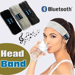Auricular bluetooth para iphone 8 handband edge yoga hat sport cap auriculares manos libres de mano tapón para los oídos reproductor de música handphone manos libres gorro desde fabricantes