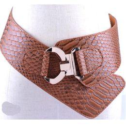 Wholesale Wide Red Elastic Belt - Fashion Elastic PU Vintage Rivet Gauze Cummerbund Women's Ultra Pattern Belt For Women Waist Mens Designer Decoration 871897