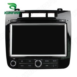 Wholesale Dvd 3g Touareg - Quad Core 1024*600 HD Screen Android 5.1 Car DVD GPS Navigation Player for VW Touareg 2010-14 Radio Bluetooth 3G Wifi steering wheel control