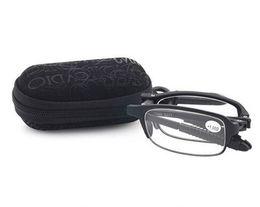 Складывающиеся очки для чтения онлайн-2016 большая скидка портативный складной TR90 рамка смолы линзы очки для чтения УФ-защита для старшего читателя с коробкой