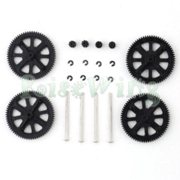 Wholesale Parrot Drone Gear - Gears w  Shafts Clips + Carbon Fiber Main Gear Protector Set For Parrot AR Drone 2.0 Quadcopter Improve 25% Flying Time