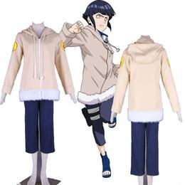 Costumes de personnages de bande dessinée de qualité en Ligne-Ensemble complet personnage de dessin animé COS japonais Anime Naruto Hyuga Hinata une générations Cosplay Costume unisexe de haute qualité pour Halloween